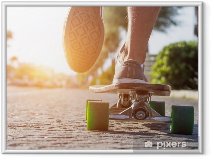 Póster Enmarcado Patinador en acción - Skate