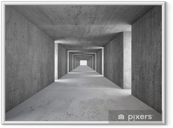 Poster en cadre Tunnel abstrait - Industrie