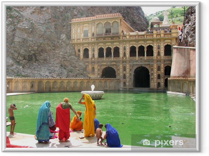 Poster en cadre Jaipur - monkey temple - Asie