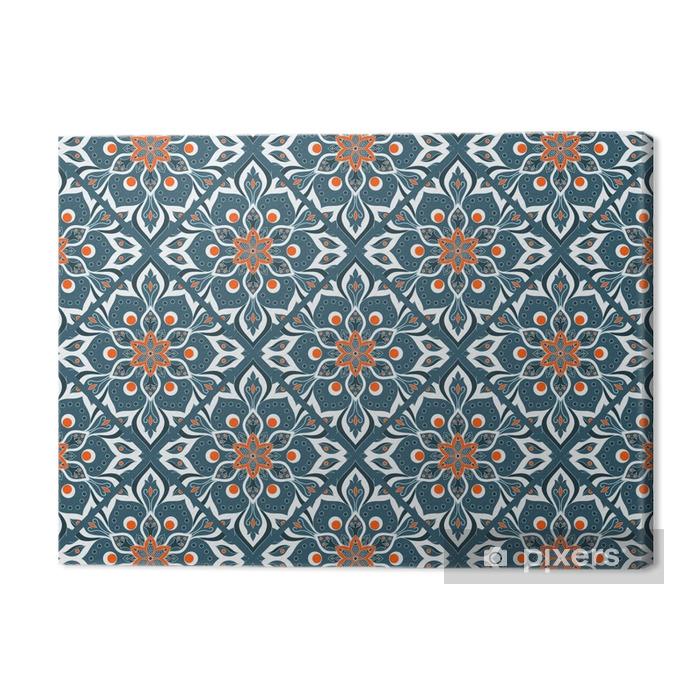 Seamless hand drawn mandala pattern. Premium prints - Graphic Resources