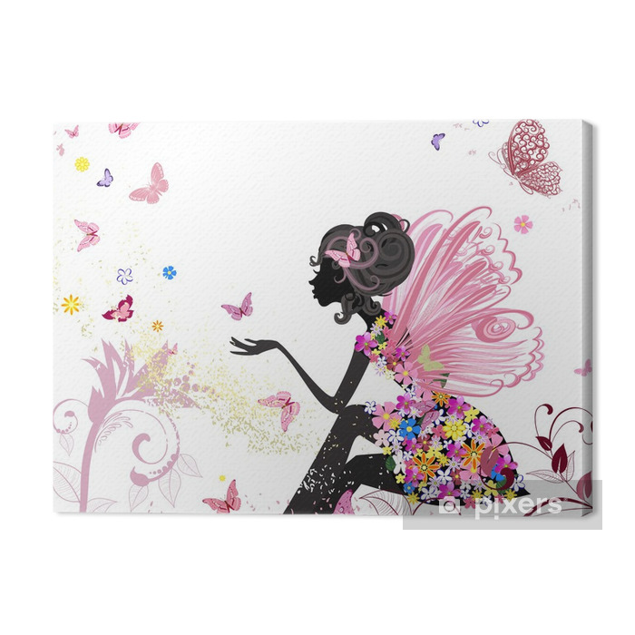 Flower Fairy in the environment of butterflies Premium prints - Styles