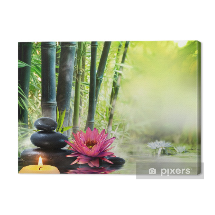 massage in nature - lily, stones, bamboo - zen concept Premium prints - Styles