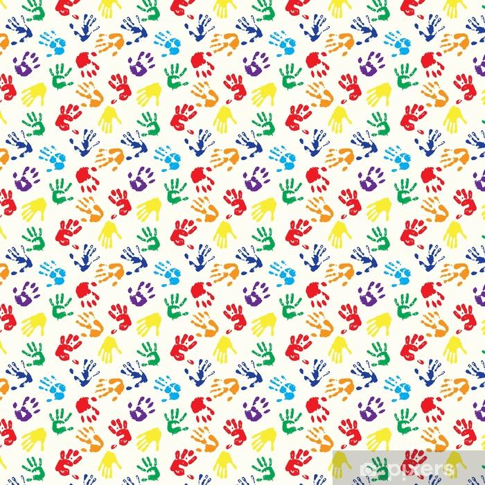 Papel pintado estándar a medida Huellas digitales del arco iris - Recursos gráficos