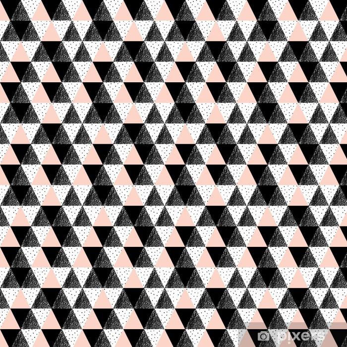 Abstrakti geometrinen kuvio Räätälöity vinyylitapetti - Graafiset Resurssit