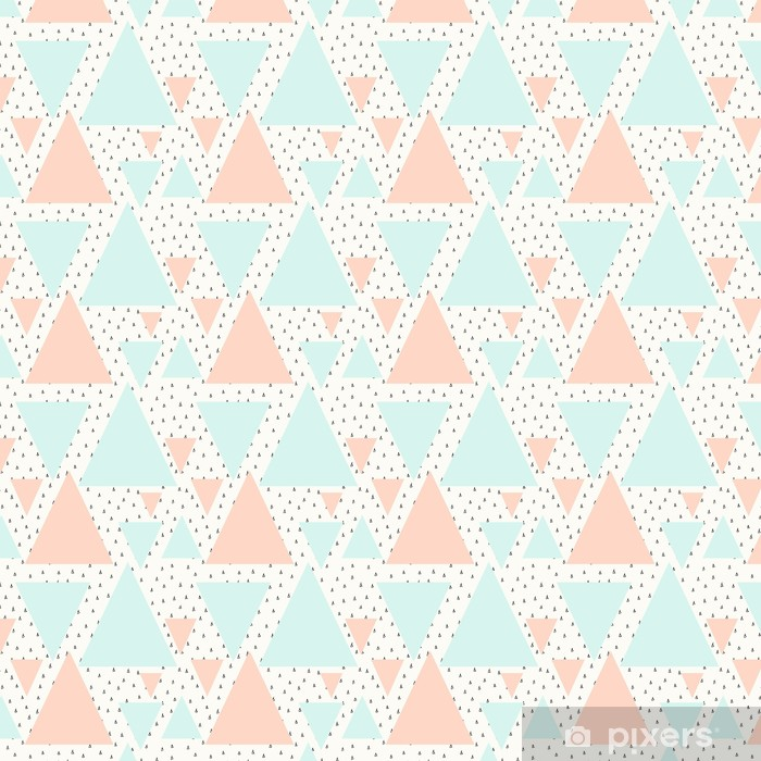 Abstrakt geometrisk mønster Personlige selvklæbende tapet -