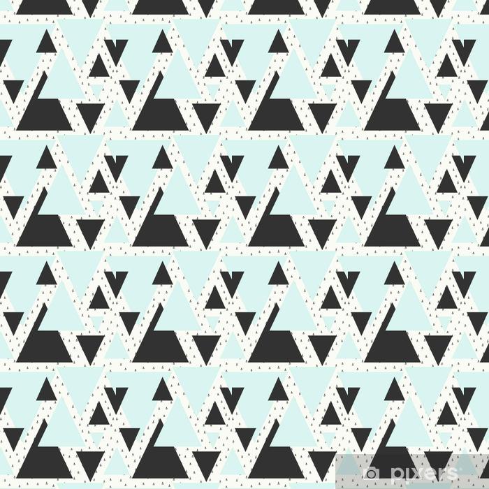 Abstrakti geometrinen kuvio Räätälöity itsestäänkiinnittyvä tapetti - Graafiset Resurssit