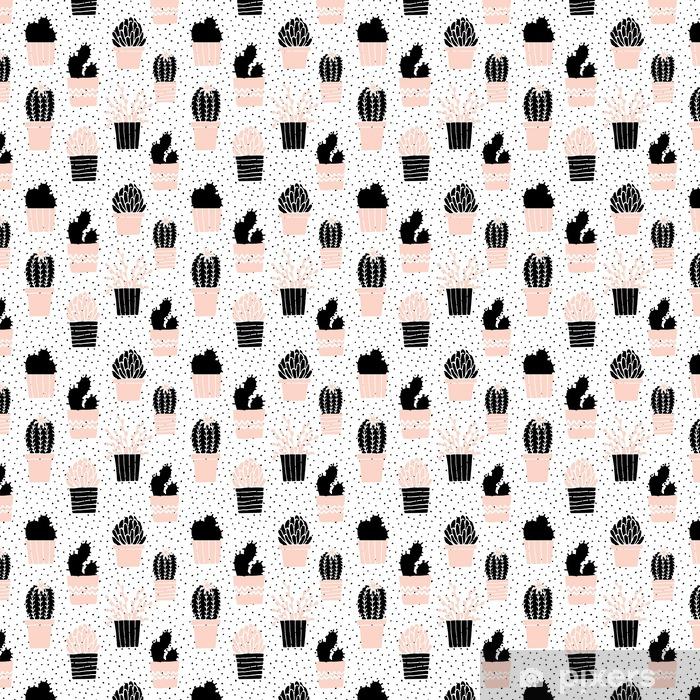Hånd tegnet kaktus mønster Personlige vinyltapet - Grafiske Ressourcer