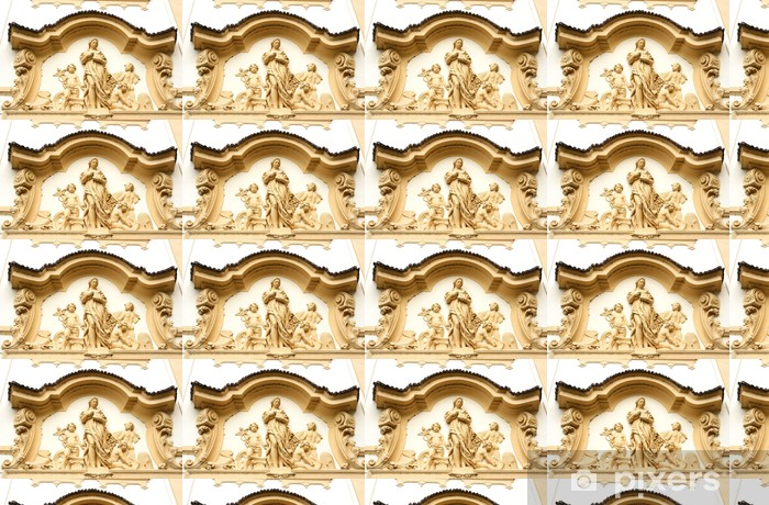 Måttanpassad vinyltapet Byggnad detalj i Hradec Kralove, storstad i Tjeckien - Europa