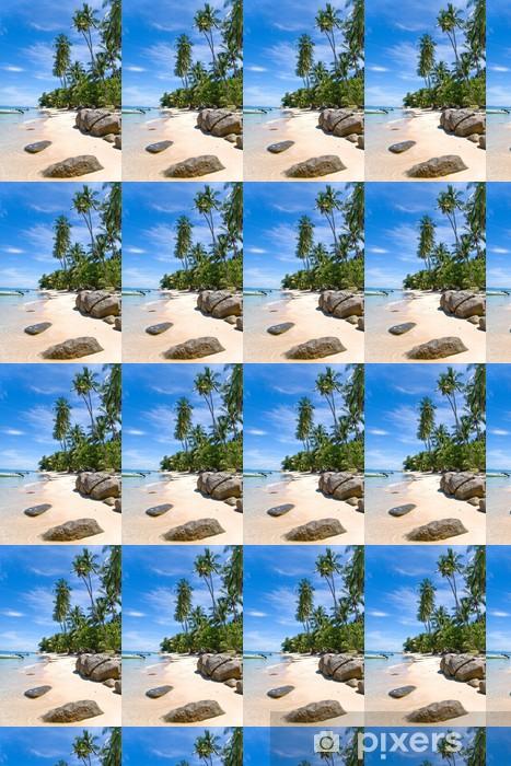 Vinyltapete nach Maß Palmenstrand Felsen - Urlaub