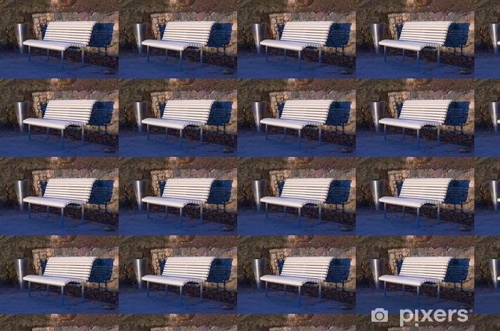 Carta da parati in vinile su misura Panchina Bianco - Altri oggetti