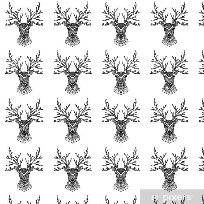 Tapeta na wymiar winylowa Dekoracyjne Portret Deer - Zwierzęta