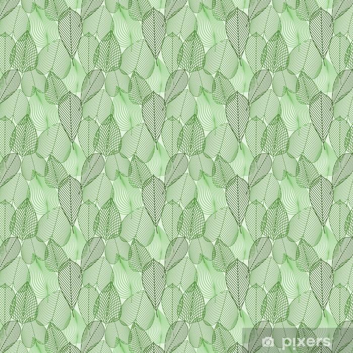 Papier peint vinyle sur mesure Printemps feuilles vertes seamless -