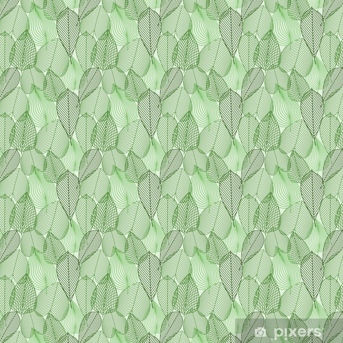 Forår grønne blade sømløse mønster Personlige vinyltapet -
