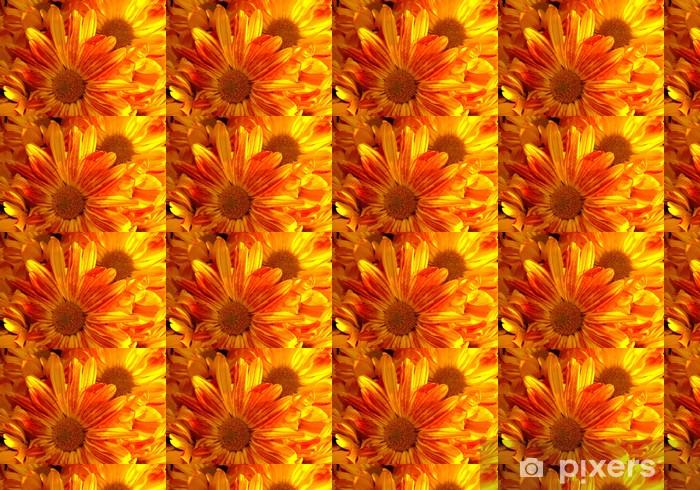 Papier peint vinyle sur mesure Belles fleurs jaunes - Fleurs
