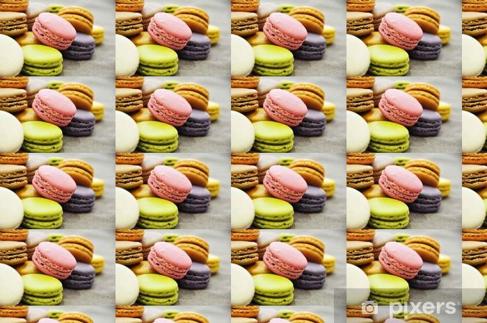 Tapeta na wymiar winylowa Macarons pl vrac de Couleur - Jedzenie
