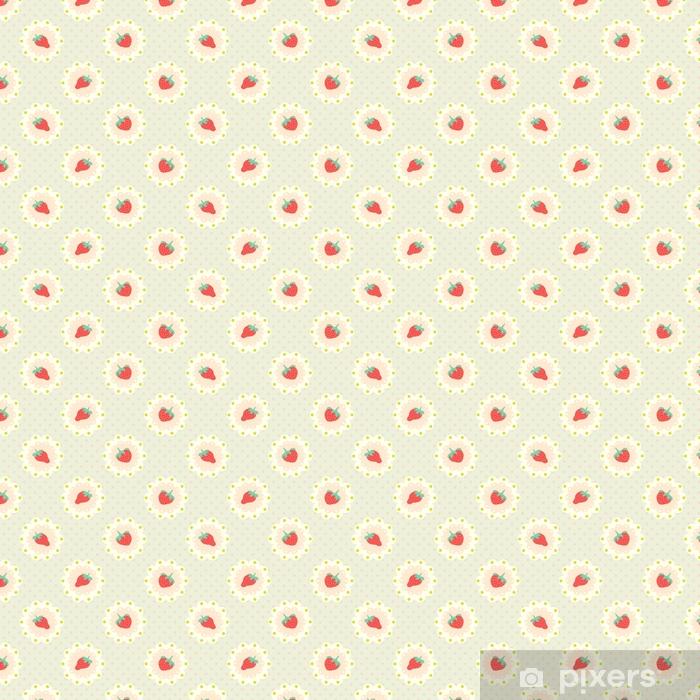 Tapete Retro-Erdbeer-Muster. Shabby Chic Stil • Pixers® - Wir leben ...