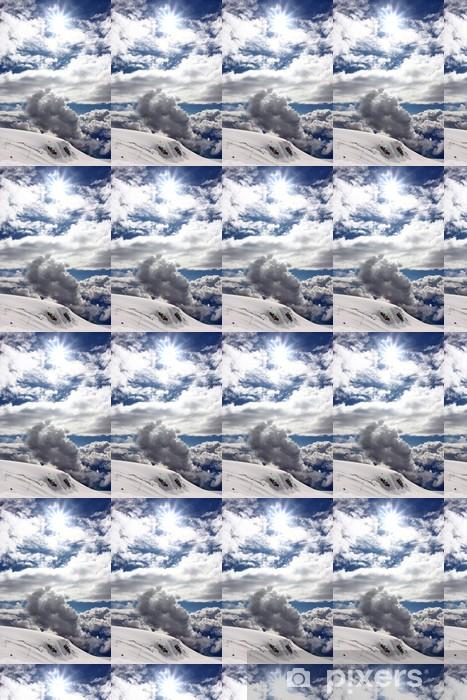 Papier peint vinyle sur mesure Sonne über Zermatt - Sports d'extérieur