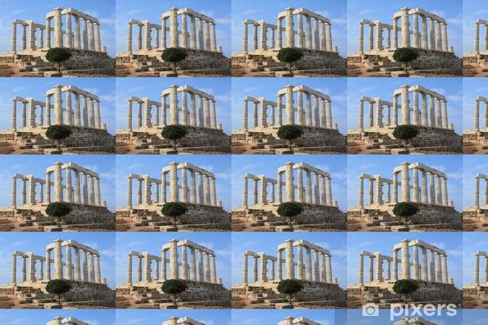 Carta da parati in vinile su misura Tempio di Poseidone in Grecia - Città europee