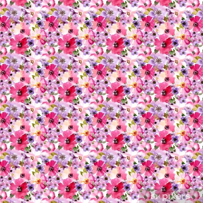 Wektor wzór z kwiatami i roślinami. akwarela kwiatowy ilustracja. Wzór bez szwu.