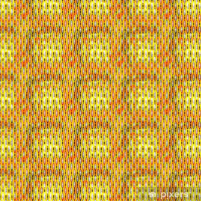 Vinyltapete nach Maß Bunte abstrakte geometrische Elemente auf einem gelben Hintergrund nahtlose Muster Vektor-Illustration - Grafische Elemente