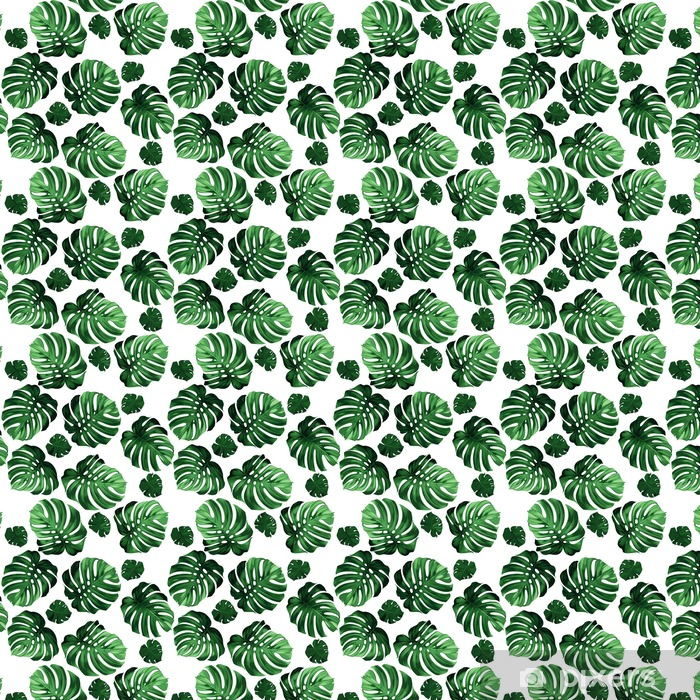 leaves monstera background Vinyl custom-made wallpaper - Graphic Resources