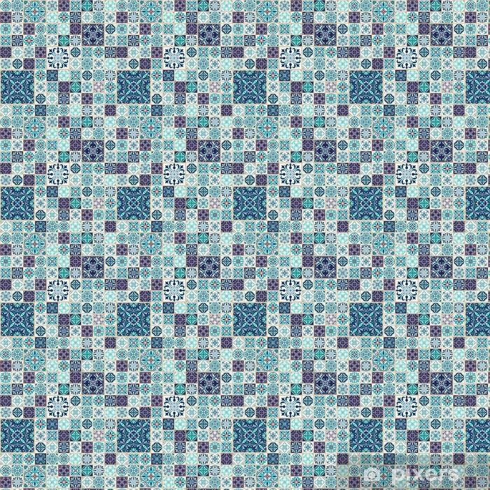 Textura inconsútil del vector. patrón de mosaico hermoso para el diseño y la moda con elementos decorativos