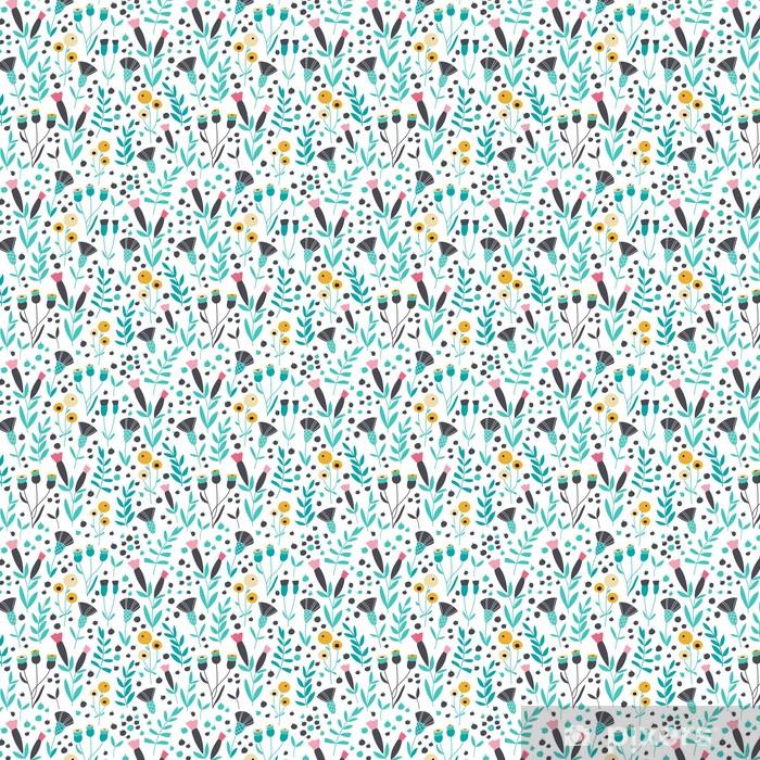 Papel pintado estándar a medida Estampado de flores escandinavo brillante inconsútil - Recursos gráficos