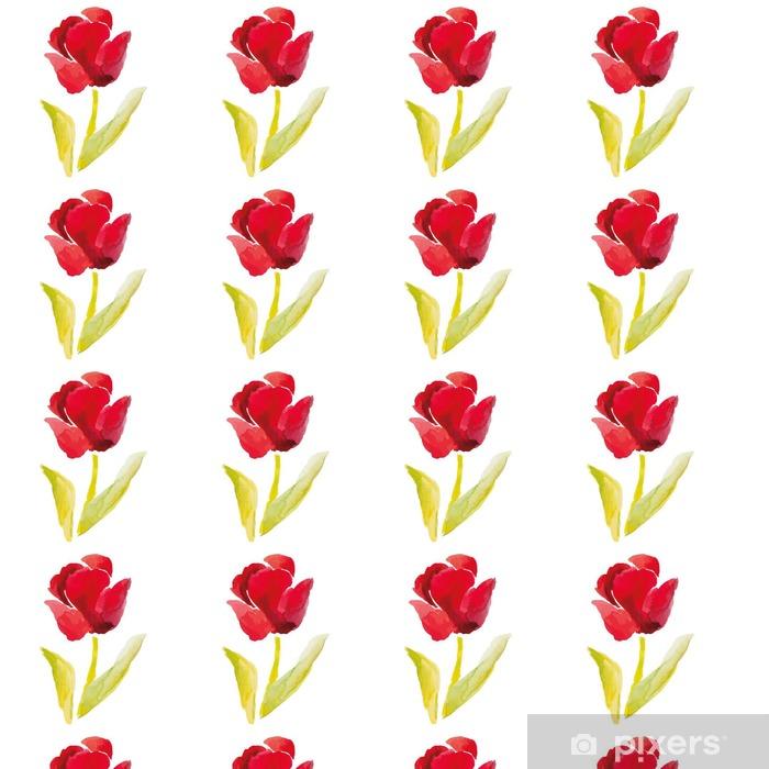 Tapeta Cerveny Tulipan Na Bilem Pozadi Popularni Jarni Kvetiny