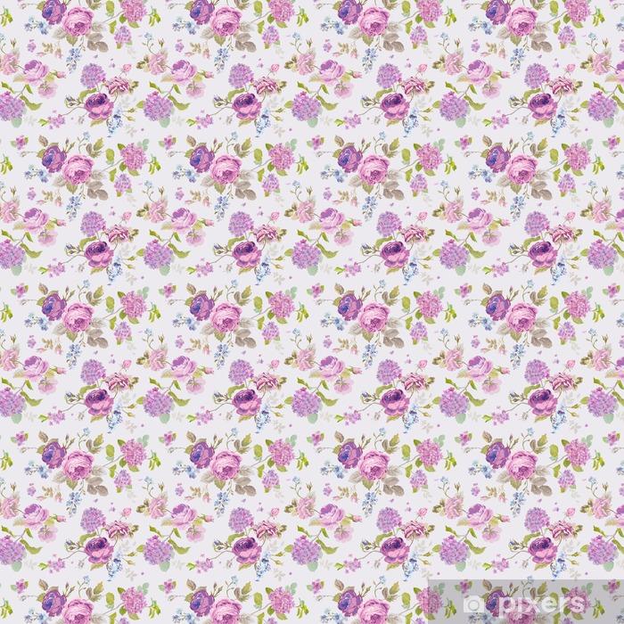 Måttanpassad vinyltapet Vårblommor Bakgrund - Blom- Shabby Chic mönster - Växter & blommor