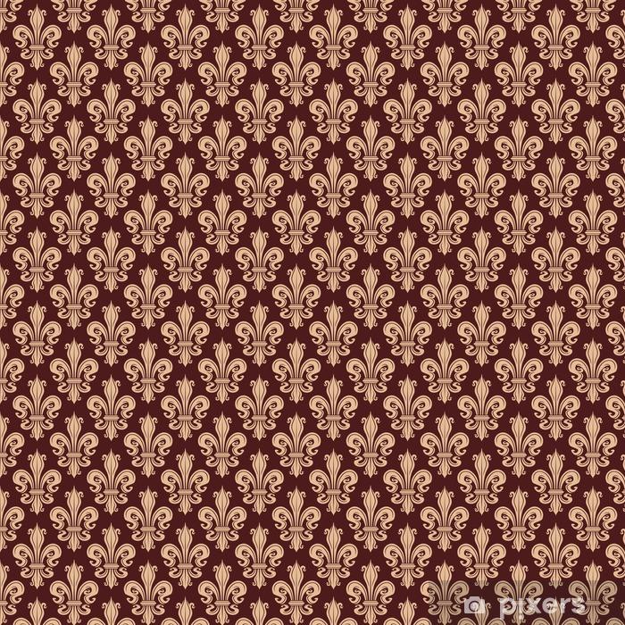 Brązowy i beżowy bezszwowych fleur-de-lis wzór