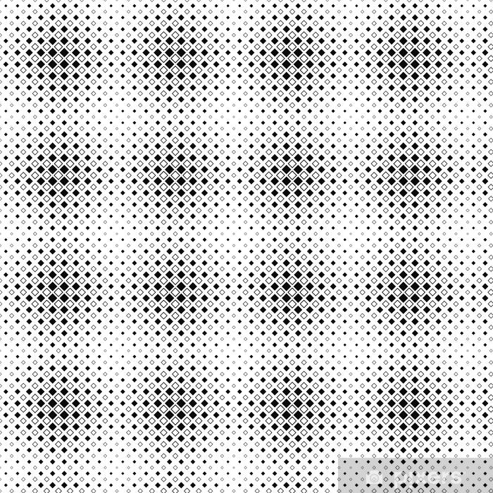 Papier peint vinyle sur mesure Répétant motif carré noir et blanc - Ressources graphiques