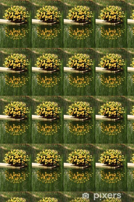 Papier peint vinyle sur mesure Yellow roses - Fleurs