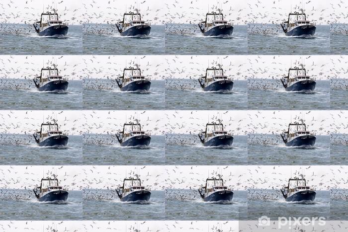Fischerboot und möwen Personlige vinyltapet - Europa
