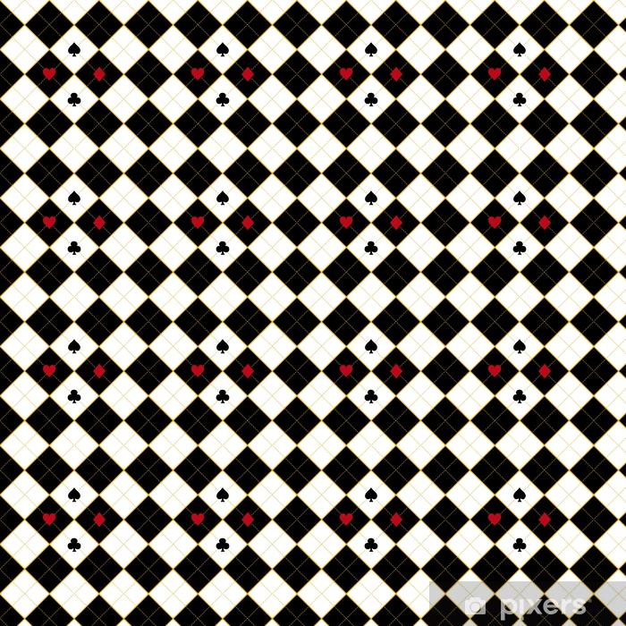 Papier peint vinyle sur mesure Carte costumes royal rouge diamant noir fond illustration vectorielle - Ressources graphiques