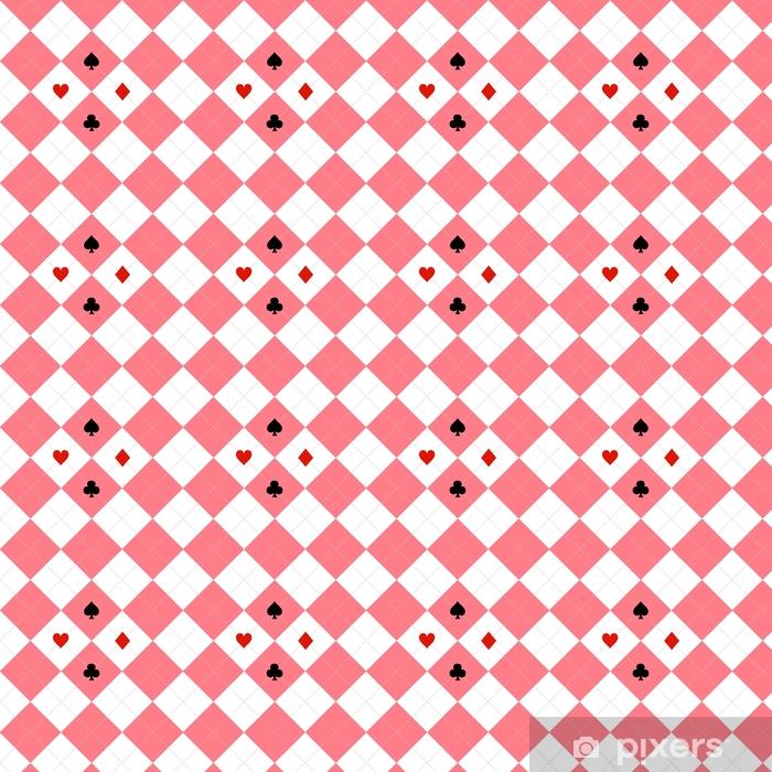 Papier peint vinyle sur mesure Carte costumes rose diamant blanc fond illustration vectorielle - Ressources graphiques