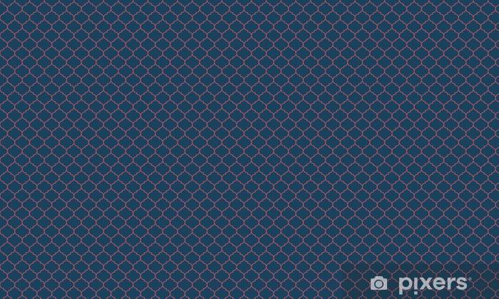 Papier peint vinyle sur mesure Bleu et bordeaux large vecteur sombre Seamless pattern moroccan - Ressources graphiques