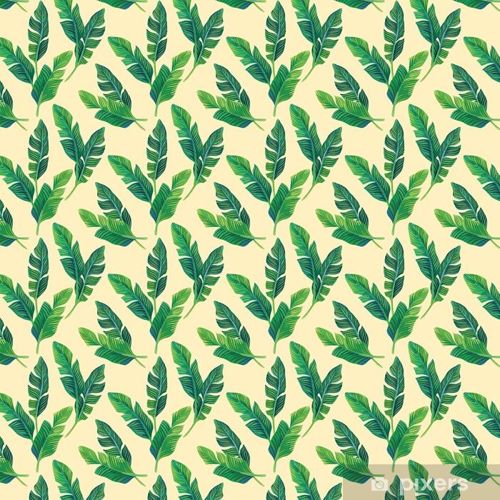 Tapeta na wymiar winylowa Bananowych liści bezszwowe tło - Rośliny i kwiaty