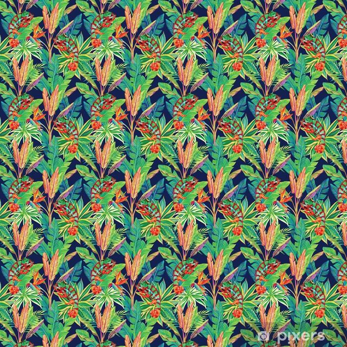 Tapeta na wymiar winylowa Kameleon w dżungli bez szwu tła - Inne Inne