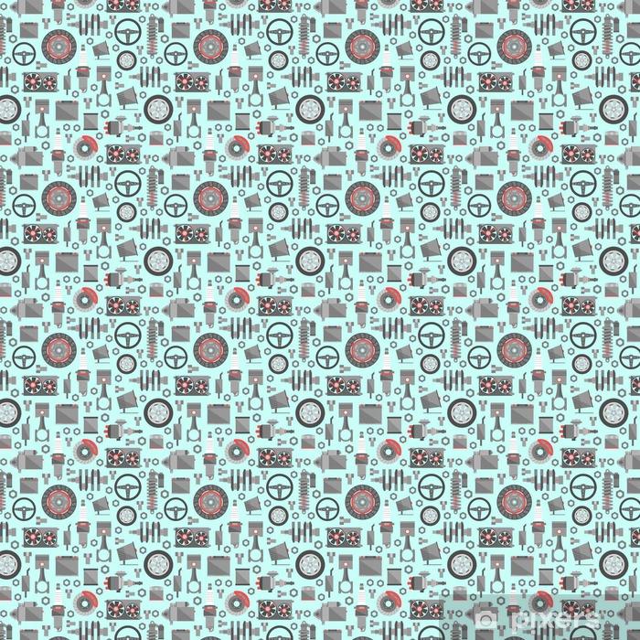 Papier peint vinyle sur mesure Pièces de rechange d'automobile seamless pattern - Transports