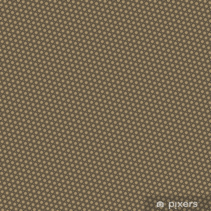 Seamless antique palette black and gold diagonal japanese asanoha pattern vector Vinyl custom-made wallpaper - Graphic Resources