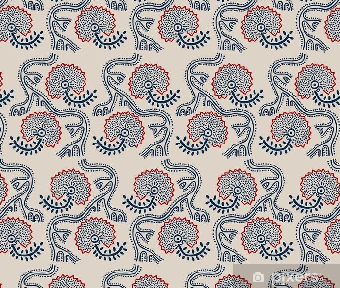 Papier Peint A Motifs Seamless Floral Bloc Ornement Imprime