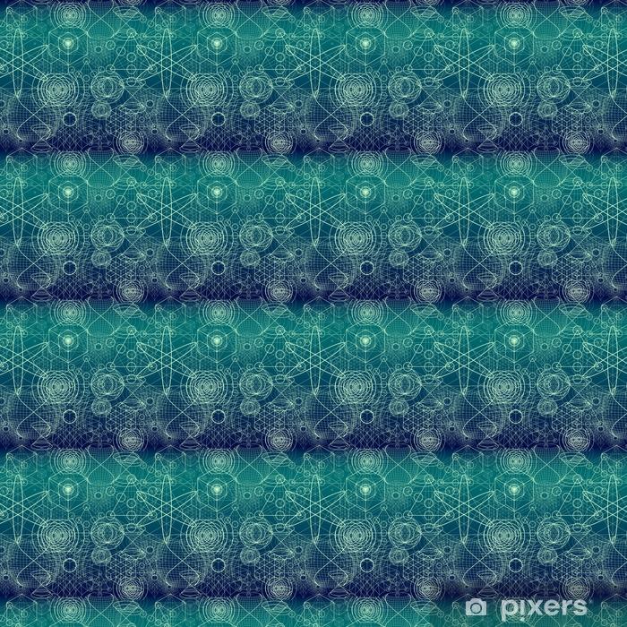 Papel pintado estándar a medida Símbolos y elementos de geometría sagrada wallpaper patrón de papel tapiz - Religiones y culturas