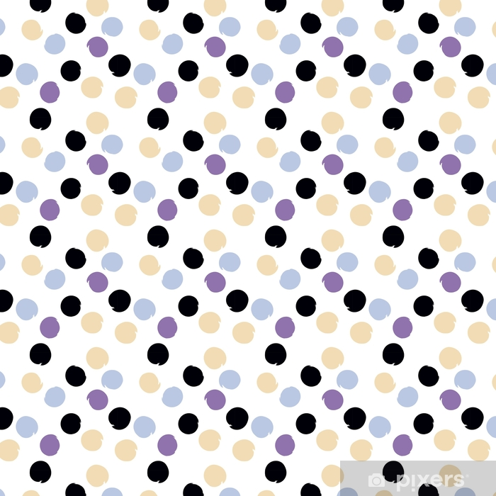 Cute vector seamless pattern . Brush strokes, circles. Endless texture can be used for printing onto fabric or paper Vinyl custom-made wallpaper - Graphic Resources