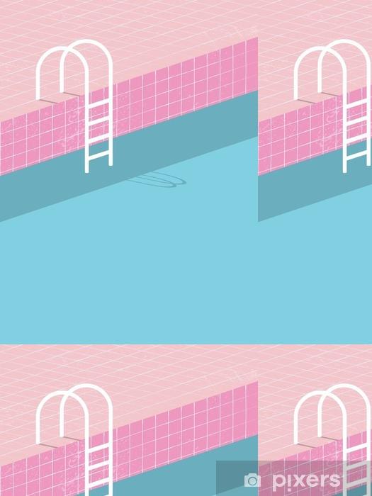 Tapete Swimmingpool Im Vintage Stil Alte Retro Rosa Fliesen Und