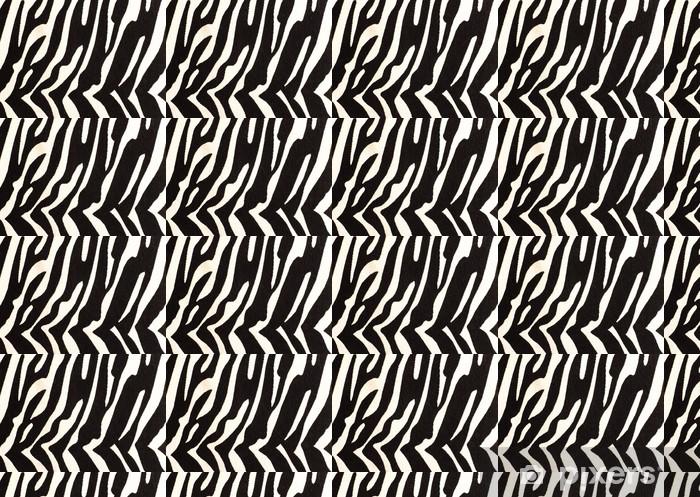 Måttanpassad vinyltapet Zebra tryck för bakgrund - Däggdjur