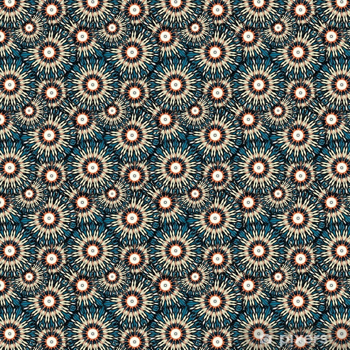 Beautiful Color Mandala Seamless Vintage Tribal Seamless Pattern Wallpaper Vinyl Custom Made