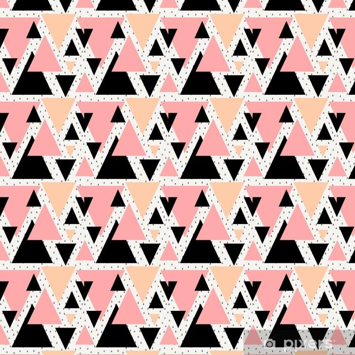 Vinyl behang, op maat gemaakt Abstract geometrische naadloos patroon. -