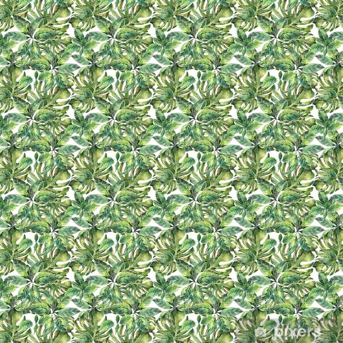 Summer exotic watercolor seamless pattern Vinyl custom-made wallpaper - Hobbies and Leisure