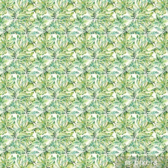 Papier peint à motifs autocollant Été exotique aquarelle seamless pattern - Loisirs et loisirs