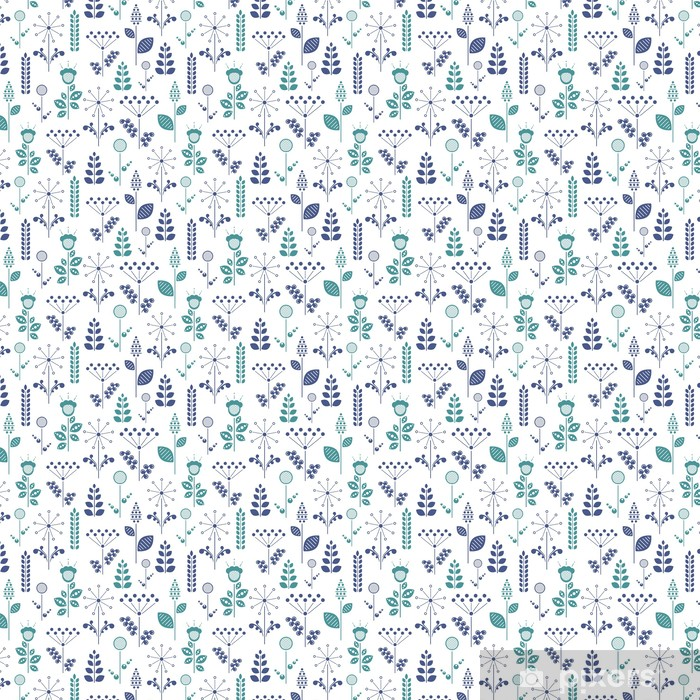 nordic floral Vinyl Custom-made Wallpaper - Graphic Resources